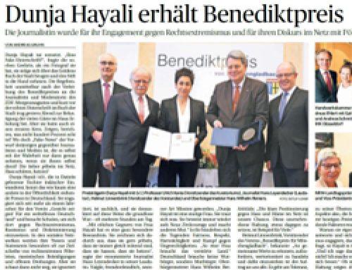 Dunja Hayali erhält Benediktpreis