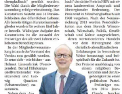 Landtagspräsident André Kuper wählt Benediktpreisträger mit
