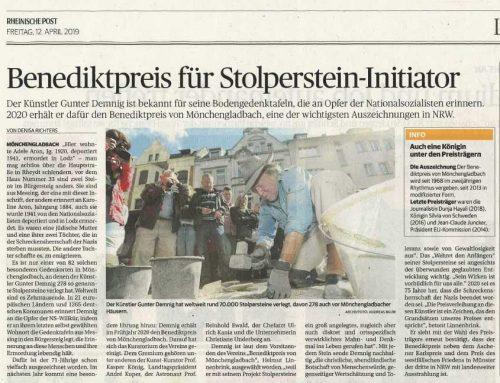 Bendiktpreis für Stolperstein-Initiator